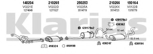 960155E Exhaust System