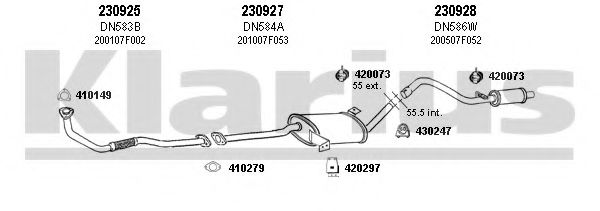 270470E Exhaust System