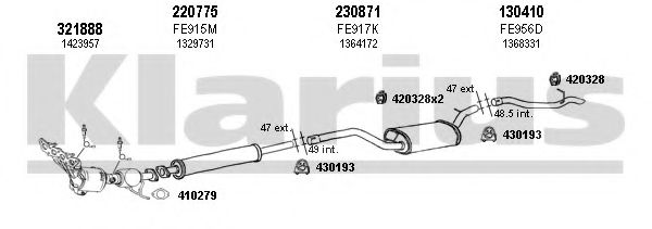 361965E Exhaust System