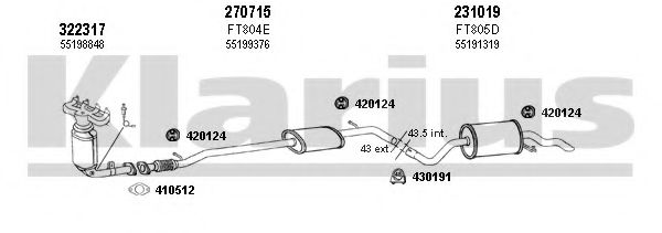 510251E Exhaust System