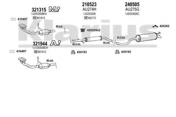 931213E Exhaust System