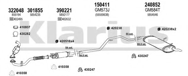 391701E Exhaust System