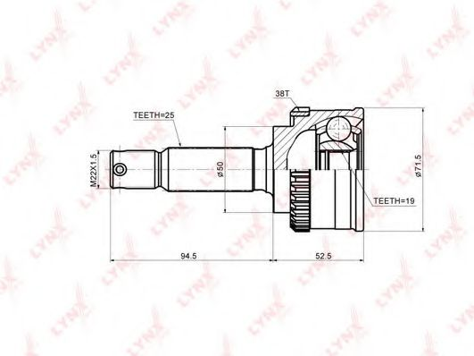 CO-3610 Joint Kit, drive shaft