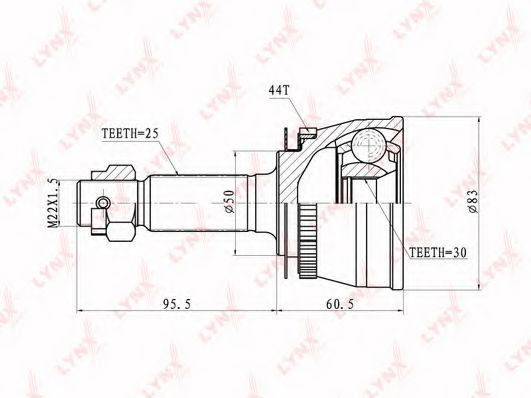CO-3628A Joint Kit, drive shaft