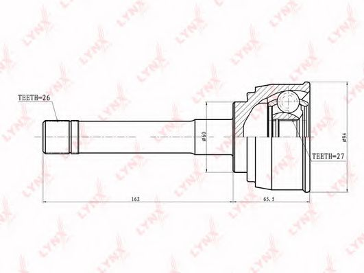 CO-7526 Joint Kit, drive shaft