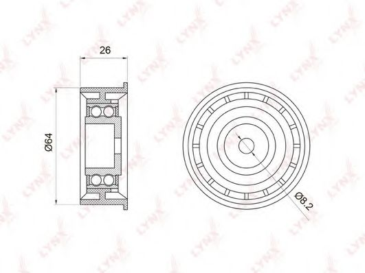 PB-3022 Deflection/Guide Pulley, timing belt