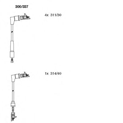 300/337 Final Drive Bellow Set, drive shaft