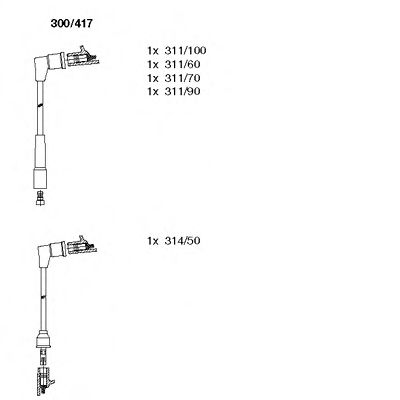 300/417 Final Drive Bellow Set, drive shaft