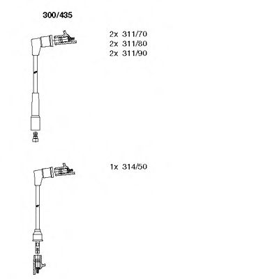 300/435 Final Drive Bellow Set, drive shaft