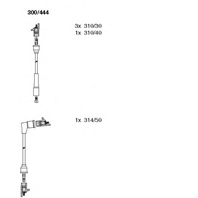 300/444 Final Drive Bellow Set, drive shaft