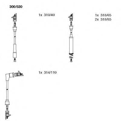300/530 Ignition System Ignition Cable Kit