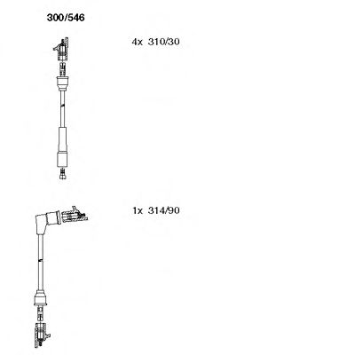 300/546 Final Drive Bellow Set, drive shaft