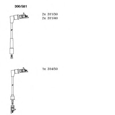 300/581 Final Drive Bellow Set, drive shaft