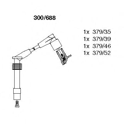 300/688 Ignition System Ignition Cable Kit