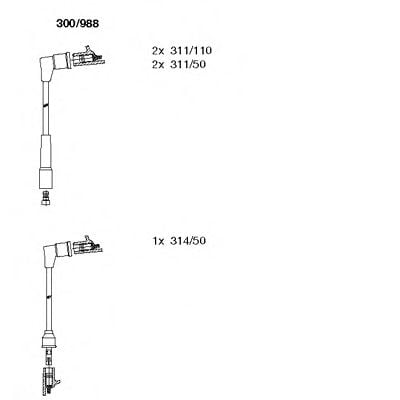 300/988 Final Drive Joint Kit, drive shaft