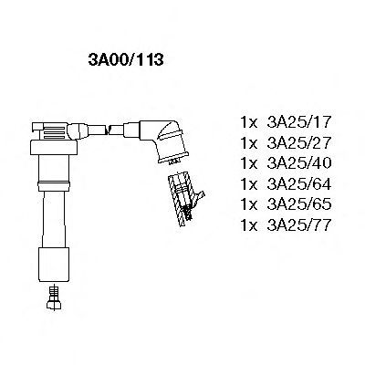 3A00/113 Ignition System Ignition Cable Kit