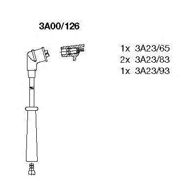 3A00/126 Ignition System Ignition Cable Kit