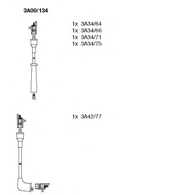 3A00/134 Ignition System Ignition Cable Kit