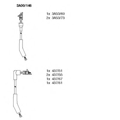 3A00/146 Ignition System Ignition Cable Kit