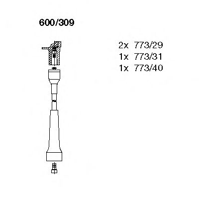 600/309 Ignition System Ignition Cable Kit