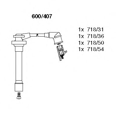 600/407 Ignition System Ignition Cable Kit