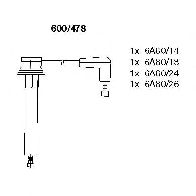 600/478 Ignition Cable Kit