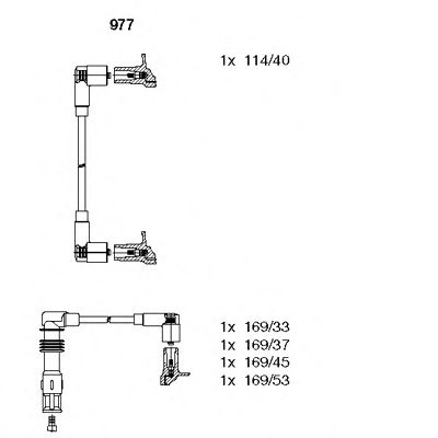 977 Brake System Brake Pad Set, disc brake