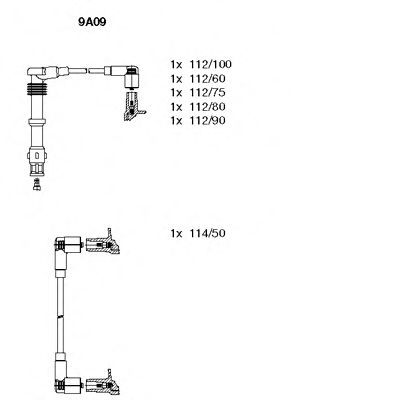 9A09 Ignition System Ignition Cable Kit