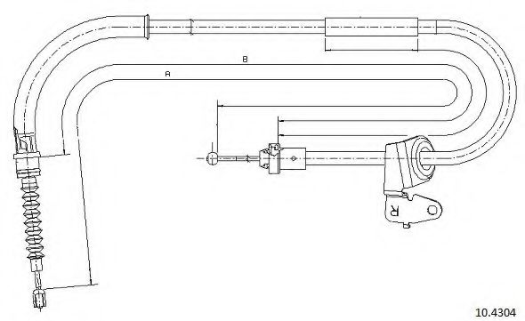 10.4304 Cable, parking brake