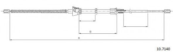 10.7140 Cable, parking brake