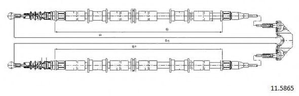 11.5865 Cable, parking brake