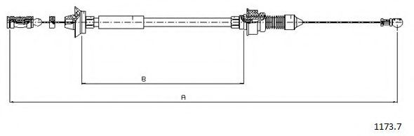 1173.7 Accelerator Cable