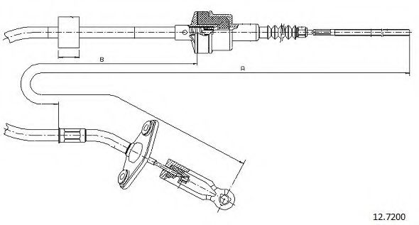 12.7200 Clutch Cable