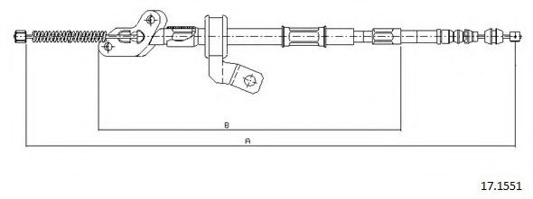 17.1551 Cable, parking brake