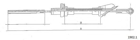 1902.1 Clutch Cable