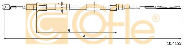10.4155 Cable, parking brake