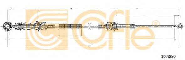 10.4280 Cable, manual transmission