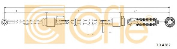 10.4282 Cable, manual transmission