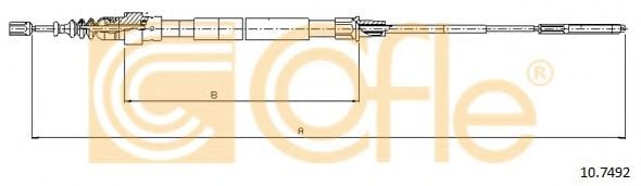 10.7492 Cable, parking brake
