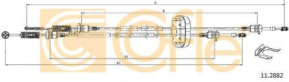 11.2882 Cable, manual transmission