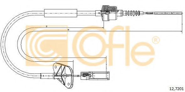 12.7201 Clutch Cable