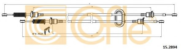 15.2894 Cable, manual transmission