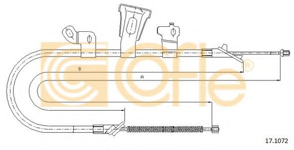 17.1072 Cable, parking brake
