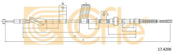 17.4206 Cable, parking brake