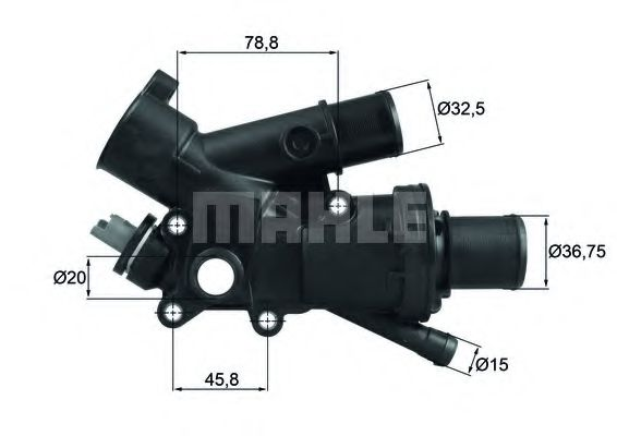 TH 43 83 Thermostat, coolant