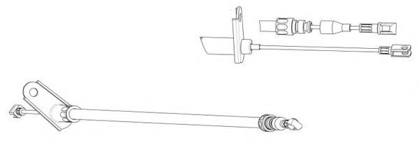 FHB431183 Cable, parking brake