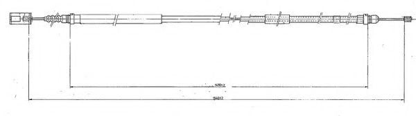 FHB431236 Cable, parking brake