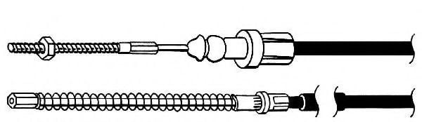 FHB432726 Cable, parking brake