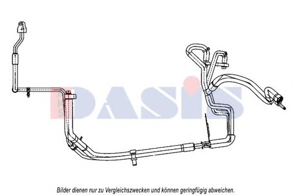 885808N High-/Low Pressure Line, air conditioning