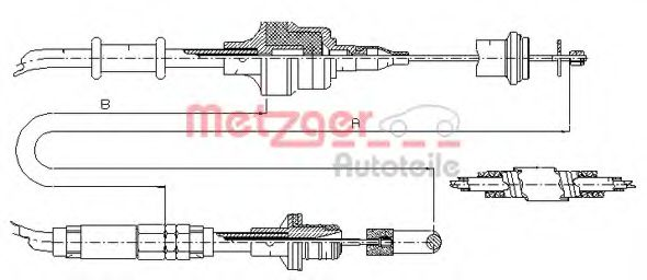 10.3750 Clutch Clutch Cable
